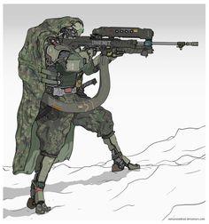 ArtStation - The Phantom, Dipo Muh. Robot Concept Art, Weapon Concept Art, Armor Concept, Futuristic Armour, Futuristic Art, Character Concept, Character Art, Character Design, Arte Cyberpunk