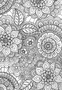 60's Pattern Colouring Page By Cindy Wilde - (advocate-art)