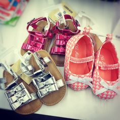 cute summer footwear in for babies.