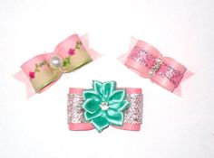 Dog Hair Bows New Puppy Gift Pack
