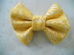 Upcycled Vintage Curtains to Jumbo Hair Bow by JRRcreations, $8.00