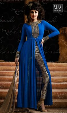 Buy Now @ http://goo.gl/VWmZ6b Extraordinary Blue Designer And Party Wear Salwar Suit Add a vibrant burst of colour with your wardrobe with this blue georgette designer salwar suit. Look ravishing clad in such a attire which is enhanced embroidered and resham work Product No VJV-NAKK3021 @ www.vjvfashions.com #designersuit #anarkalisalwar #indiansalwarsuit #indianweddingsuit #bridalsalwarsuit #stylishsalwarsuit #trends #weddingsalwarsuit #india #womenwear #indianwedding #ethnics #clothes