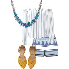 Blue Agate Terra Bella Necklace pairs perfectly with nautical stripes and patterned shorts See more at: http://www.josephnogucci.com/collections/terra-bella/products/blue-happy-crazy-agate-terra-bella-necklace