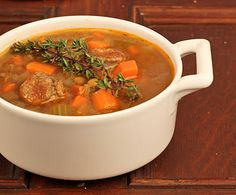 Delicious, comforting and healthy...Lentil and Sausage Soup~