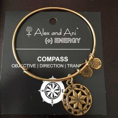 Alex and Ani Compass Bangle Normal wear but still looks great! Alex & Ani Jewelry Bracelets