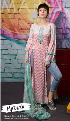 I like the way this is dressy and casual at the same time. Tunic Designs, Kurta Designs, Pakistani Fashion Casual, Indian Fashion, Indian Attire, Indian Wear, Pakistani Dresses, Indian Dresses, Long Kurti With Jeans