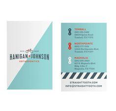 test monki, hanigan & johnson, orthodontics, branding, brand identity, print design, business card design, tomball and magnolia, texas