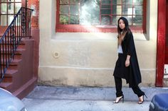 The Spicy Stiletto's Serena Goh in Line and Dot Coat