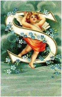 Tuck Alphabet letter S postcard, Used 1912 Vintage Cards, Vintage Postcards, Vintage Images, Alphabet Cards, Alphabet And Numbers, Monogram Alphabet, Vintage Illustration, Etiquette Vintage, Kobold
