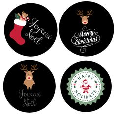 Sablés vitraux de Noël {étiquettes cadeau imprimables} …