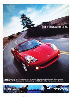 Toyota MR2 Spyder ad