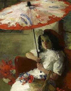 Girl with Parasol...by Martha Walther