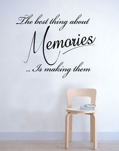 The best thing about Memories Wall Sticker Quote Bedroom Kitchen Inspirational Vinyl Decal Art. £19.99, via Etsy.