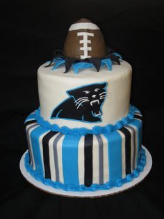 Panther's football themed cake