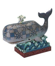 Whale Figurine #zulily #zulilyfinds....hmmmmm, wonder if I could do 1 for the backyard?