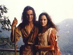 Of course they fall for each other and so pave the way for the sequelae in Into the Wilderness. Hawkeye (Daniel Day-Lewis) and Cora (Madeleine Stowe) ~ The Last Of The Mohicans