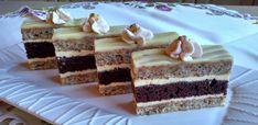 Orechovo-kakaové rezy so žĺtkovým krémom s griotkou (fotorecept) - recept | Varecha.sk Tiramisu, Cheesecake, Food And Drink, Cookies, Ethnic Recipes, Desserts, English, Basket, Cheesecake Cake