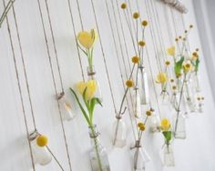 Hanging wall flowers vases. by Dawn