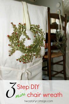 3-step diy mini chair wreath