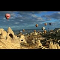 amazing view of air baloon