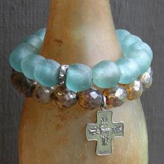 spiritual and religious bracelet set by forgivingworks on Etsy, $95.00