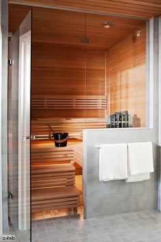 37 Awesome Home Sauna Design Ideas - Sofia Open Bathroom, Master Bathroom, Bathroom Ideas, Bathroom Trends, Basement Bathroom, Sauna Design, Outdoor Bathrooms, Home Reno, Creative Decor