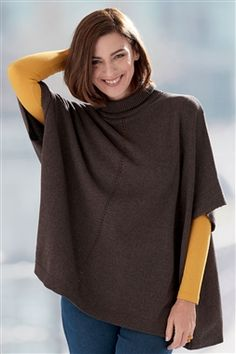 Pure Cotton Poncho Existing Customer, Fall Winter, Autumn, Polo Neck, Turtle Neck, Pure Products, Knitting, Sweaters, Cotton