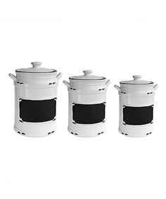 Look at this Vintage Black Canister - Set of Three on #zulily today!