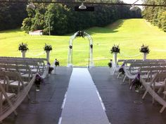 Arch with tulle  www.myfloralimpressions.com 410-329-1406