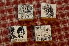 Stamped paper mache boxes