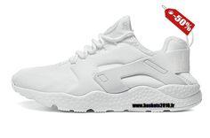 Chaussures Nike Basketball Pas Cher Femme Officiel Nike Air Huarache 3 de haute qualité Blanc