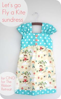 Cute, cute! Free summer dress pattern tutorial.