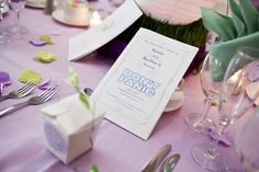 """hitchhiker's guide to the wedding"" programs- to explain some of the geeky things that people might not otherwise ""get"" -also, they walked back up the aisle to ""beauty and the beast"" *sigh*"