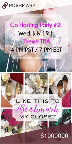 🎉YAY....POSH PARTY#2🎉 Please join me as I Co-Host my 2nd Posh Party!! ✨Like, share, and comment on this listing ✨Nominate and tag PFFs and new closets ✨Compliant closets will only be considered for Host Picks!  ✨Thank you as always for all the Posh Love! Other