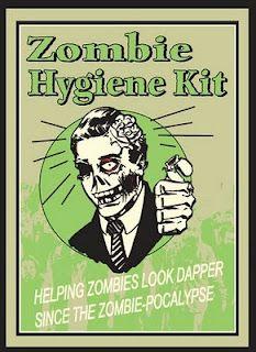 Zombie hygiene Kit... Helping #Zombies look dapper since the Zombie-pocalypse.