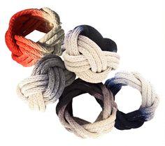 dye dipped rope bracelets