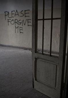 'Forgive Me' graffiti on wall in Tuscany asylum