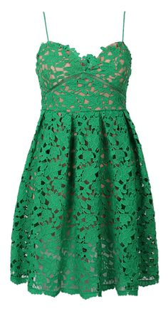 Emerald lace sweetheart dress