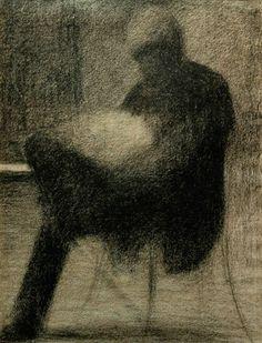 Georges Seurat, Man Reading, 1884