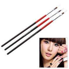 T2N2 3x Soft and Professional Pen Nail Art Brushes Tool Set Tiny Size nail brush