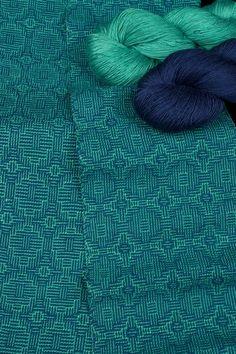 Kit - Weaving - 2 Skeins=2 Scarves; 'Tidal Pool' Shadow Weave: click to enlarge