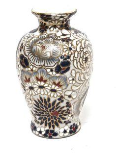 Macau Porcelain Vase Oriental Vase Hand Painted in Macau