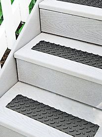 Instant Traction On Outdoor Steps. Heavy Duty Rubber Treads Add Traction To  Wood And Concrete Steps With Peel And Stick Ease. Helps Clean Mud Off  Shoes, ...