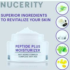 People all over the world are loving the premium ingredients in Nuceritys Peptide Plus Moisturizer #nucerity #peptideplus #antiaging https://www.buynucerity.com/kahladawson
