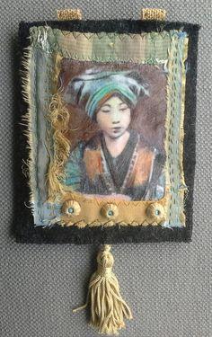 Broche/Tableau textile. Rêve d'Orient. par VeronikB sur Etsy