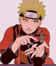 Naruto, Sage Mode, Kakashi, tiny, mini, funny, cute; Naruto