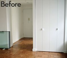 How to: Give Boring Closet Doors an Inexpensive, Architectural Makeover