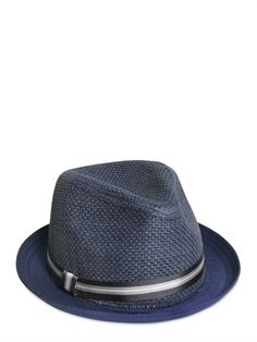 PAUL SMITH JUNIOR - PANAMA HAT - LUISAVIAROMA - LUXURY SHOPPING WORLDWIDE SHIPPING - FLORENCE