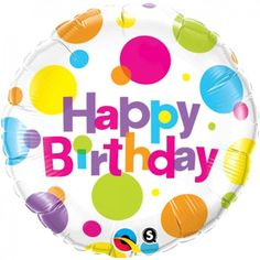 """18"""" Στρογγυλό Birthday Big Polka Dots"""