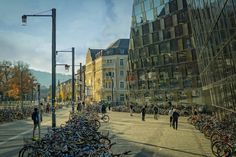 Free stock photo of architecture bicycles buildings